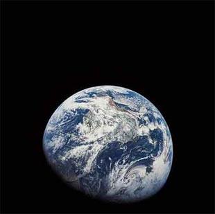 Dünya'nın çekilmiş ilk fotoğrafı.