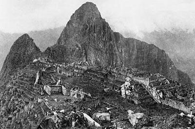 Machu Picchu'nun ilk fotoğrafı.